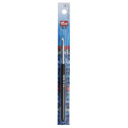 """Крючок алюминиевый """"PRYM"""" с пластиковой ручкой d 4.0 мм 14 см"""
