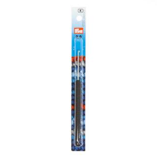 """Крючок алюминиевый """"PRYM"""" с пластиковой ручкой d 2.0 мм 14 см"""